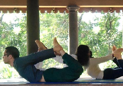 Yoga Teacher Training TTC 200 with Swami Santhiprasad at School of Santhi Yoga Teacher Training School in Kerala South India