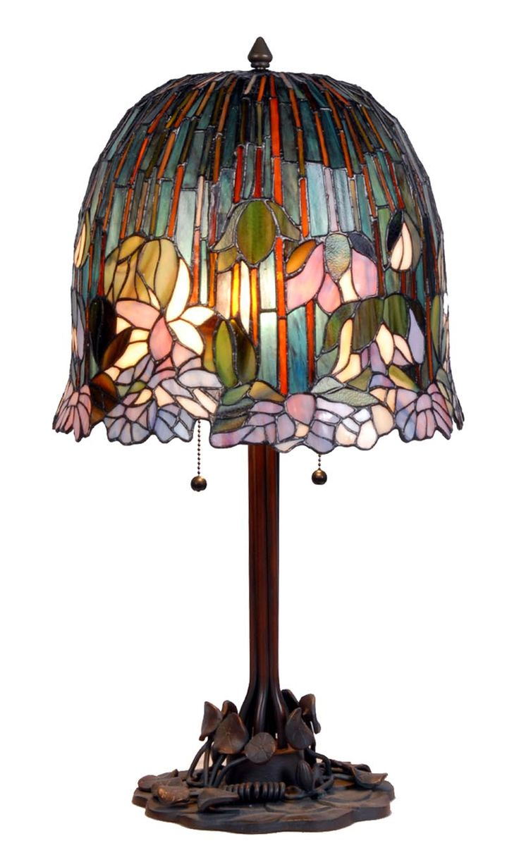 Glass red table lamp - Tiffany Table Lamp 9935