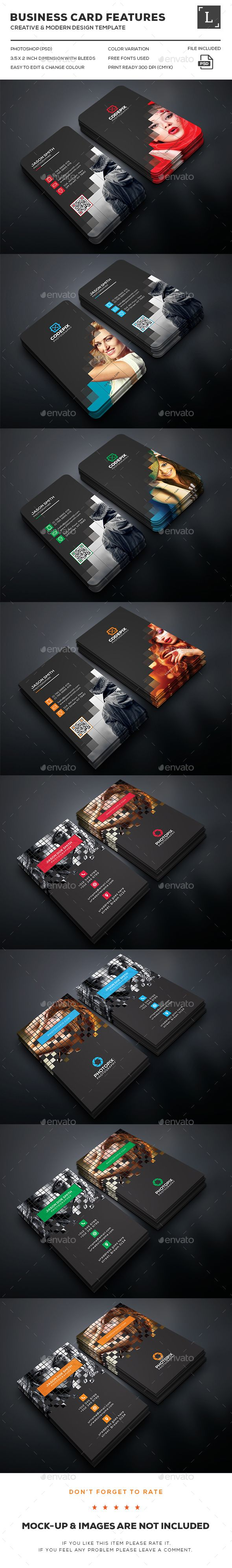 Photography Business Card Bundle — Photoshop PSD #graphic #pixels • Available here → https://graphicriver.net/item/photography-business-card-bundle/16295695?ref=pxcr