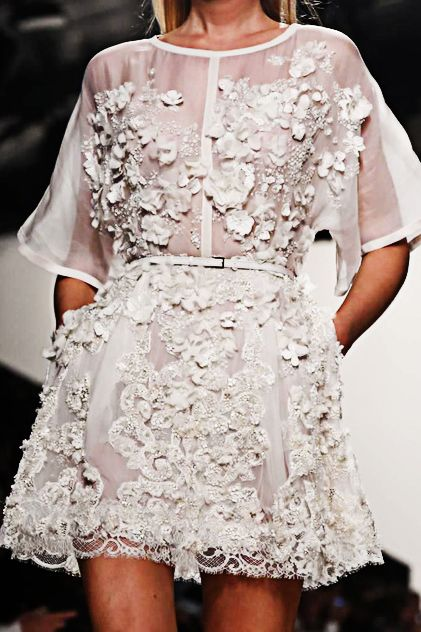 elie saab - little white lace dress