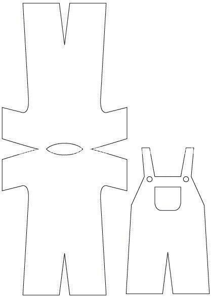 Открытка костюм шаблон