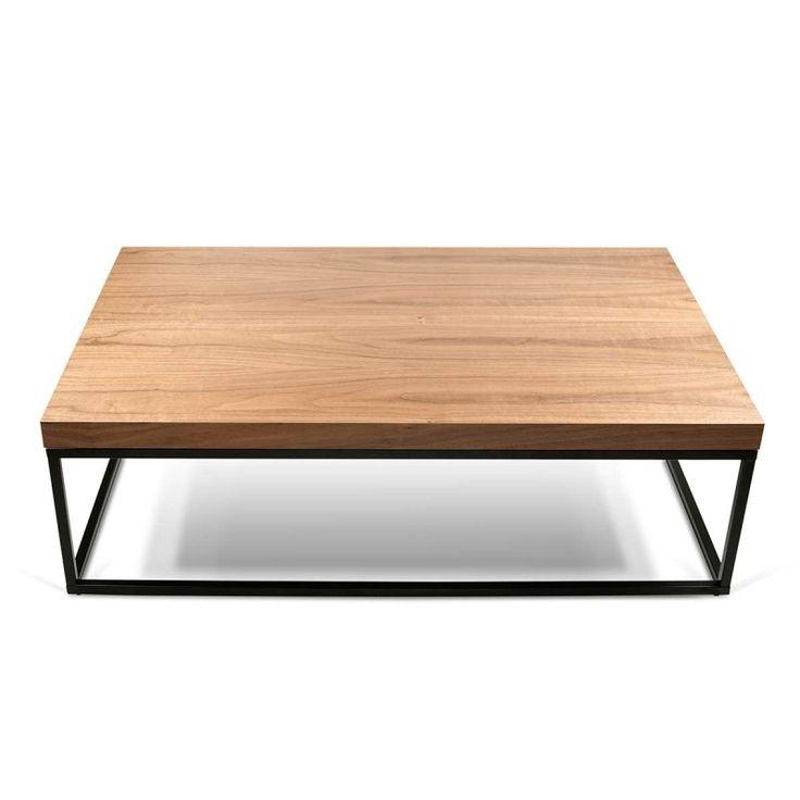 Table basse design Sydney noyer/noir ATYLIA