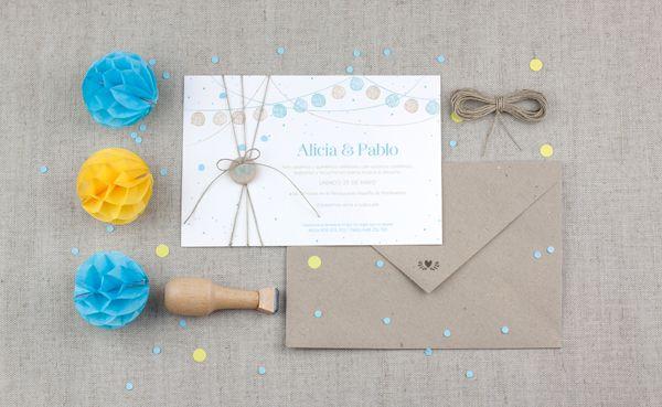 Invitación de bodas de Project Party Studio, modelo verbena ¡LOVE IT! #bodas #papeleria #wedding #stationery #spain