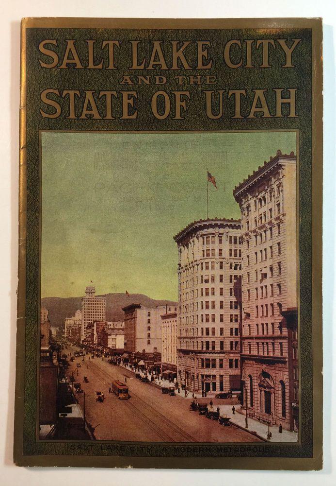 Salt Lake City and the State of Utah Vintage Booklet, Sunset Magazine, c. 1915