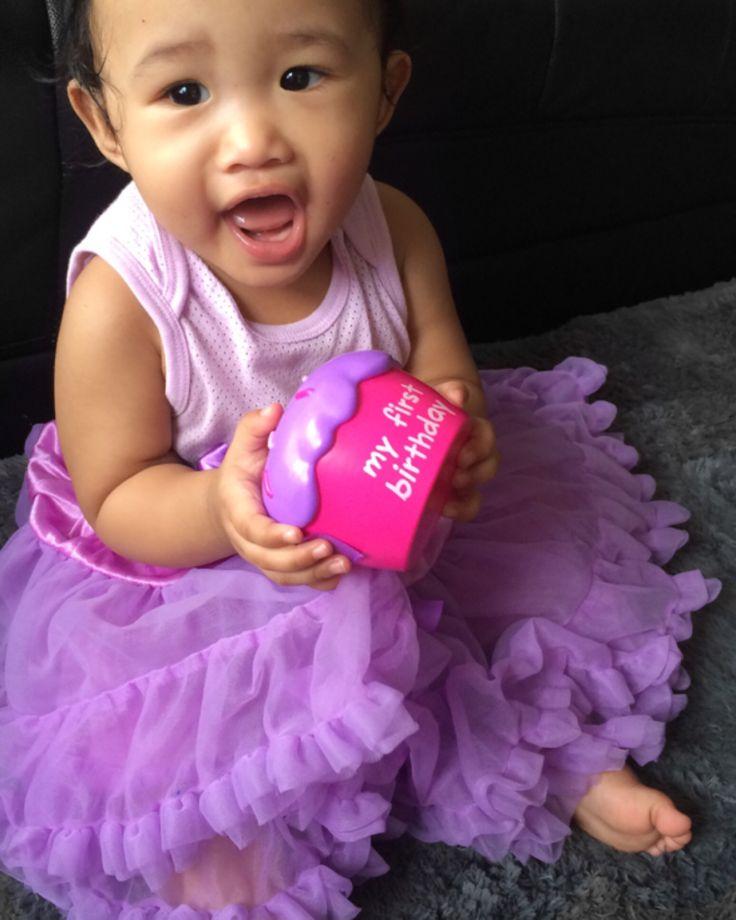 Her First Birthday Photoshoot clad in purple tutu- Nuraini Ithnin