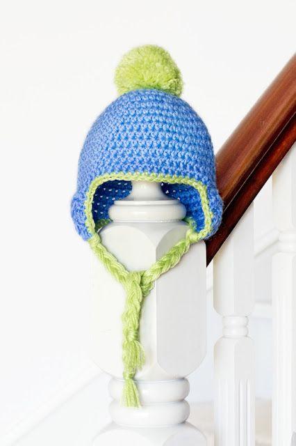 Baby Pom Pom Hat Crochet Pattern via Hopeful Honey