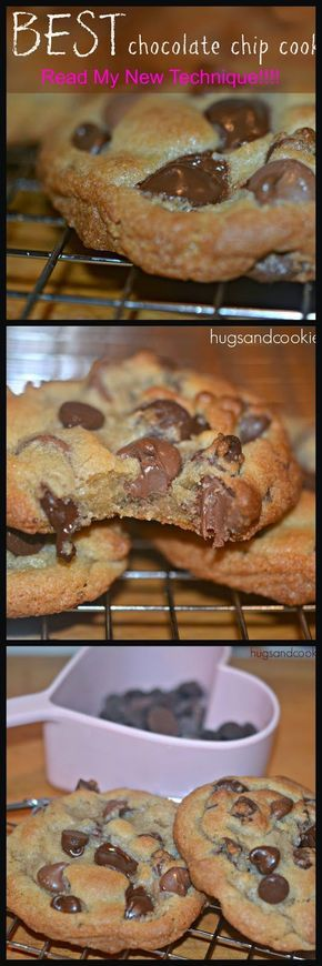 Extra thick & chewy chocolate chip cookies: Blogger reveals her baking secret.
