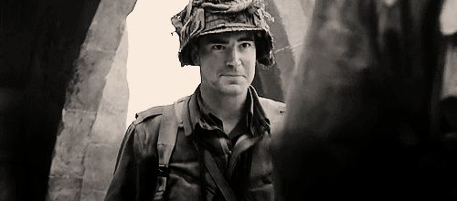 MRW I'm watching Band of Brothers and Jimmy Fallon comes on screen out of nowhere