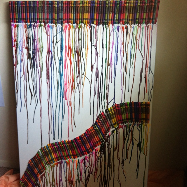 DIY art project. perfect for a playroom.
