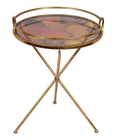 round glass accent table by privilege furniture pinterest rh pinterest com