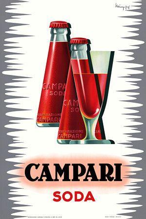 """Campari Soda - Giovanni Mingozzi """"Camparisoda e bicchiere"""" - 1960 - Galleria Campari, Sesto San Giovanni (MI)"""