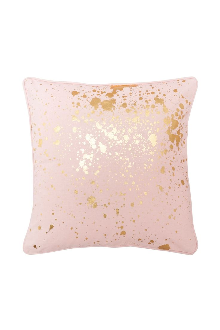 top  best pink pillows ideas on pinterest  grey pillows pink  - pink gold splatter cushion  flo and frankie more