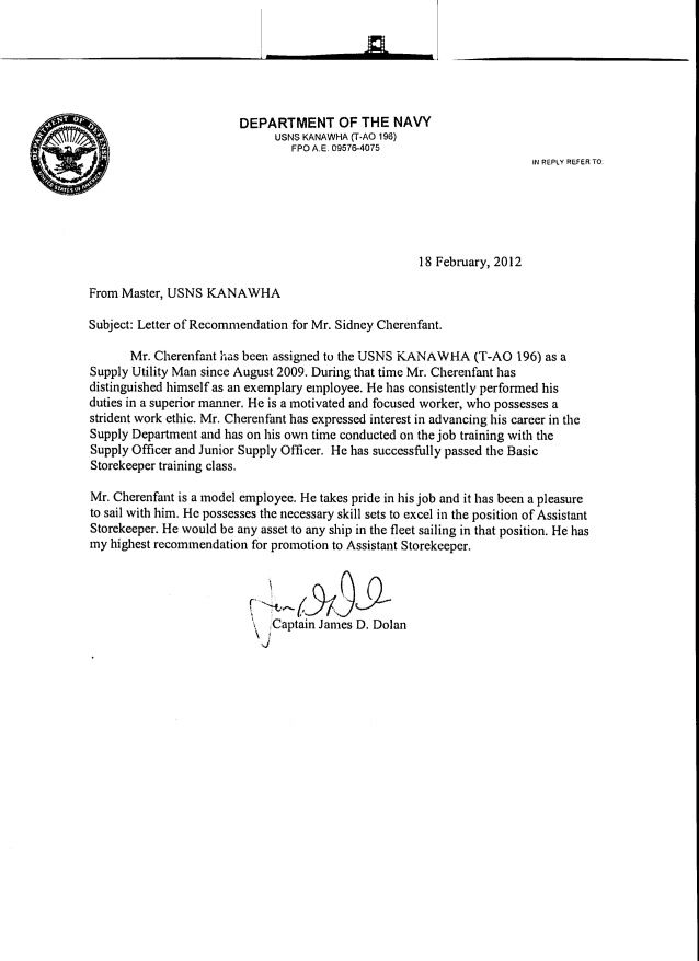 Military Letter Of Re Mendation Format Romes Danapardaz