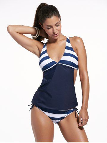 GET $50 NOW | Join RoseGal: Get YOUR $50 NOW!http://m.rosegal.com/tankinis/stylish-plunging-neck-striped-women-s-tankini-set-510898.html?seid=282759rg510898