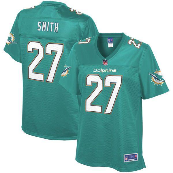 Maurice Smith Miami Dolphins NFL Pro Line Women's Player Jersey - Aqua - $99.99