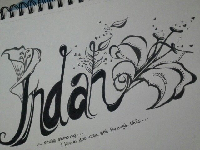 A first trial typography..