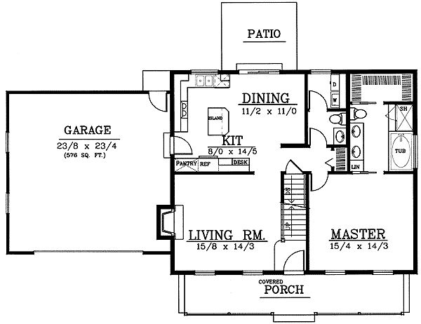 49 best cape cod floorplans images on pinterest floor for Cape cod house plans open floor plan