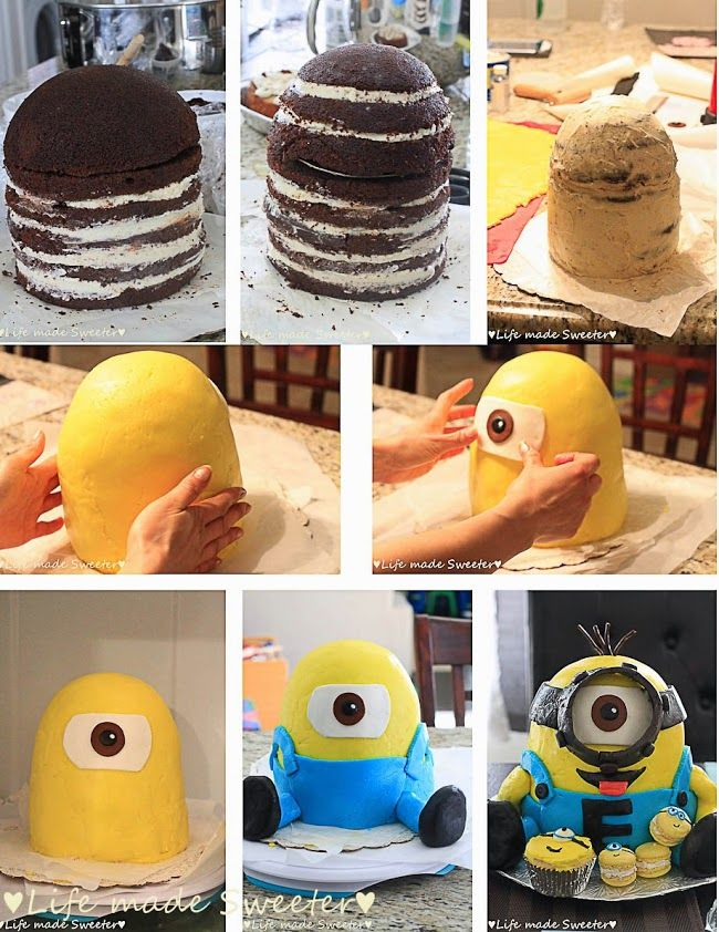 Despicable Me Minion Cake - everything you need from the 3D Minion Cake to Minion cake pops, donuts, cookies and invitations.