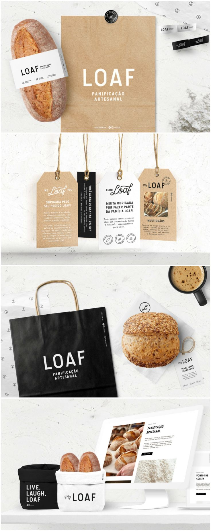 New Brand and Packaging for an Artisan Bakery in Brazil  Design Agency: Bea Janoni Brand / Project Name: Loaf Location: Brazil Category: #bakery   World Brand & Packaging Design Society