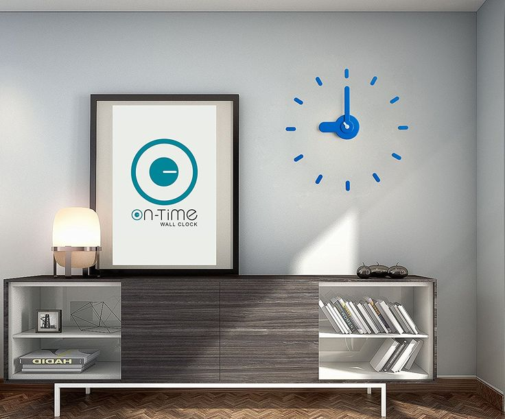 Contemporary Wall Clock, Kids Room, Kitchen, home, Japanese Design Award, DIY Stickers Installation On Flat Surfaces and Mirrors, Accurate and Silent Quartz Movement Great Gift. Bee-On-Time(Blue Mountain) * Amazing deals just a click away : Home Decor Clocks