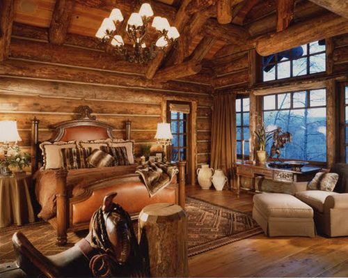 oh my gosh! love country bedrooms: Dreams Bedrooms, Westerns Bedrooms, Rustic Bedrooms, Country Cabins, Master Bedrooms, Logs Cabins, Country Bedrooms, Cabins Bedrooms, Logs Houses