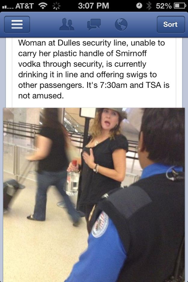Anyone in line with this drunk lady at the airport... | 35 People You Wish You Could Trade Places With For A Day