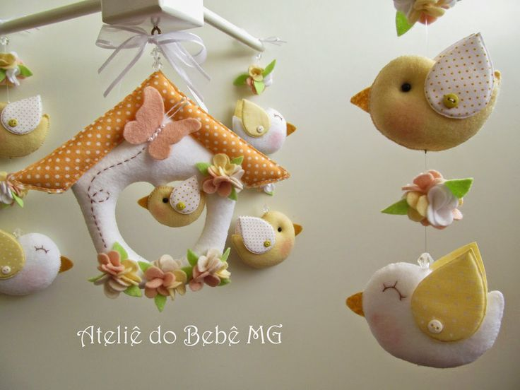 Ateliê do Bebê MG: Móbile Pássaros ( Carolina )