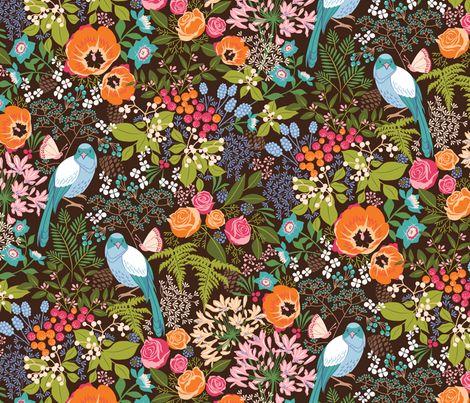botanical dreamscape fabric by catalinakim on Spoonflower - custom fabric