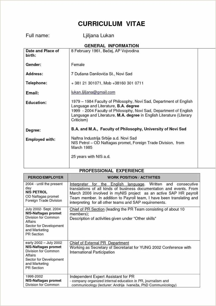 How To Make Resume In English Cv Model Pdf For Fresher in