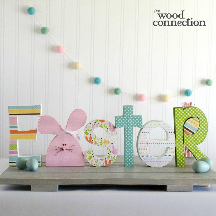 118 best easter images on pinterest easter crafts easter decor easter wood letters spiritdancerdesigns Images