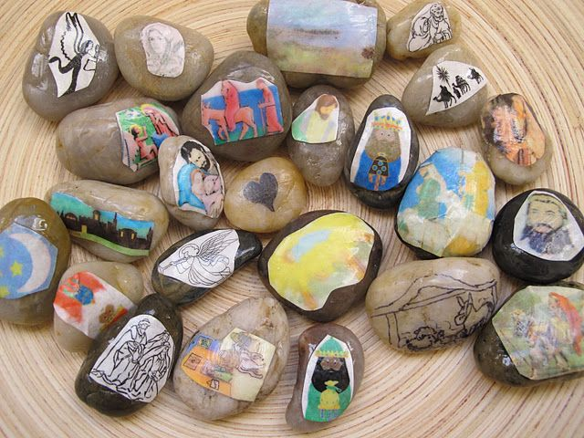 Advent Story Rocks - what a wonderful idea. Can't wait to try this next year!: Christmas Time, Advent Stories, Advent Christmas, Advent Seasons, Stories Rocks, Advent Rocks, Advent Calendar, Golden Gleam, Daycares Ideas