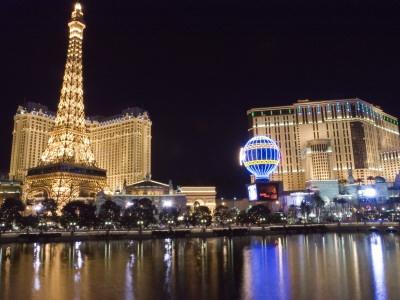 Las Vegas Boulevard, the Strip, and the Paris Casino