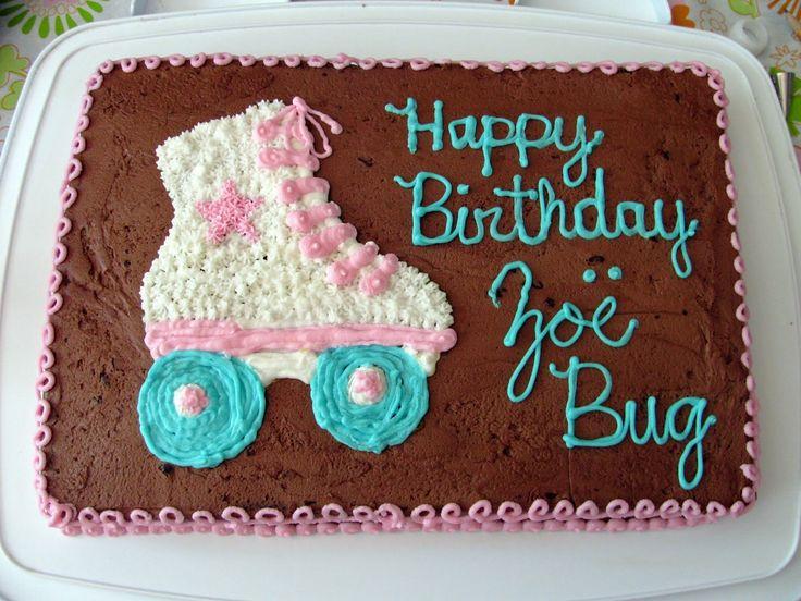 Roller Skating Birthday Cake Ideas cakepins.com