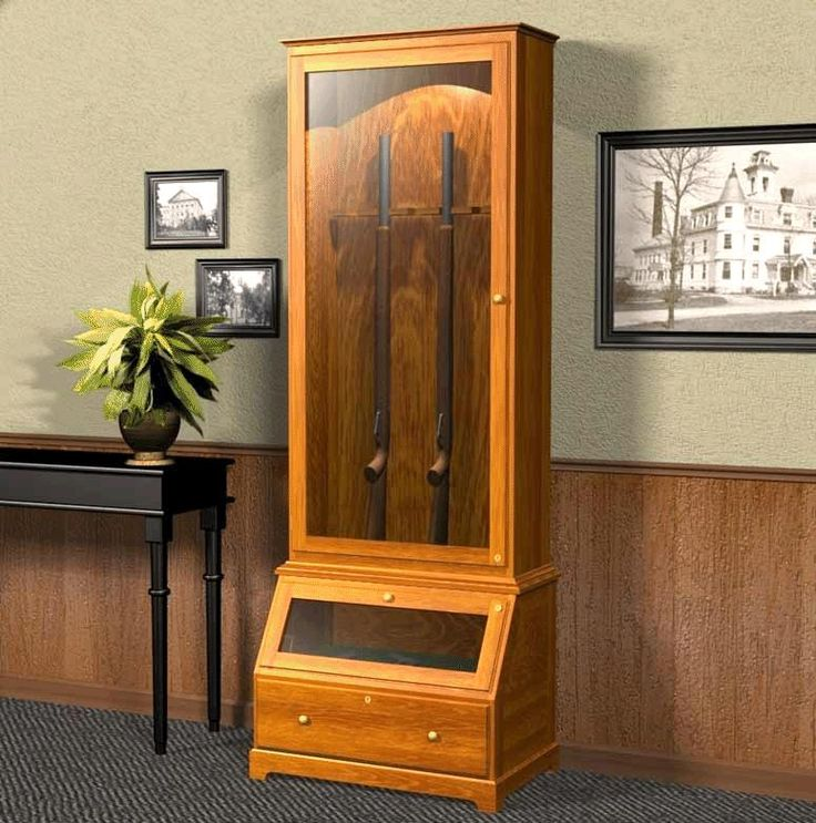 20 Best Gun Cabinet Plans Images On Pinterest