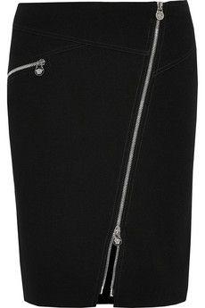 Versace Zip-detailed stretch-crepe pencil skirt   NET-A-PORTER