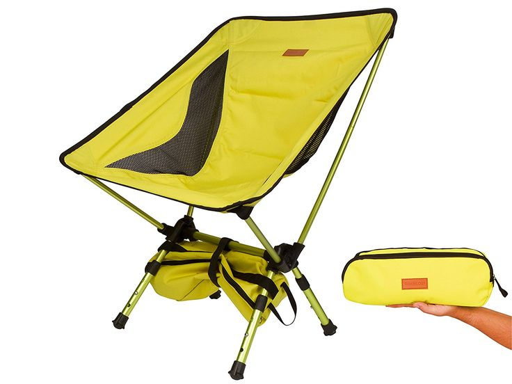 Trekology Compact Portable Camping Chair with Adjustable Height - Ultralight Backpacking Chair in a Bag for Camping *** Click on the image for additional details.