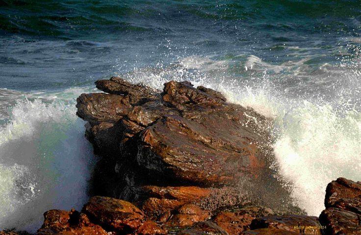 Mother nature's power at Mackerel Beach Glencairn South Africa