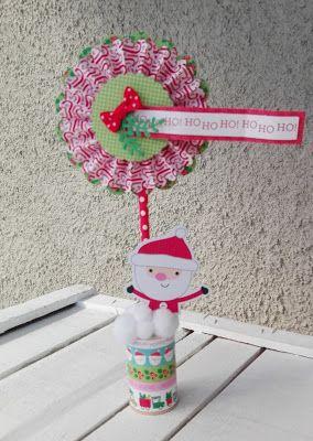 "piccole polpette crescono: ""HO HO HO!"" CHRISTMAS HOME DECOR #alteredwoodspool #doodlebugdesign #christmascraft #christmasdecor #diy"