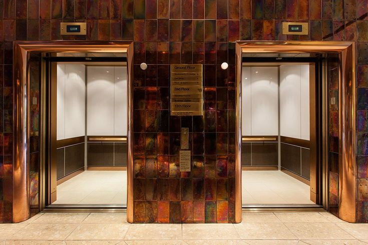 LEVELe-105 Elevator Interior with custom upper panel insets