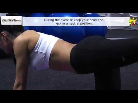 Strengthen your lower back muscles with this simple back exercise