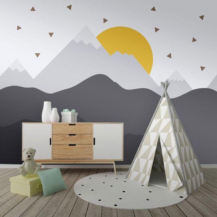 Fototapete -Mountain Dawn (WM-6) Spielzeug, Kinder & Baby #Fototapete #Mountain #Sunrise # WM6