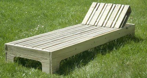*** Chaise longue en palette, Esprit Cabane, idees creatives et ecologiques
