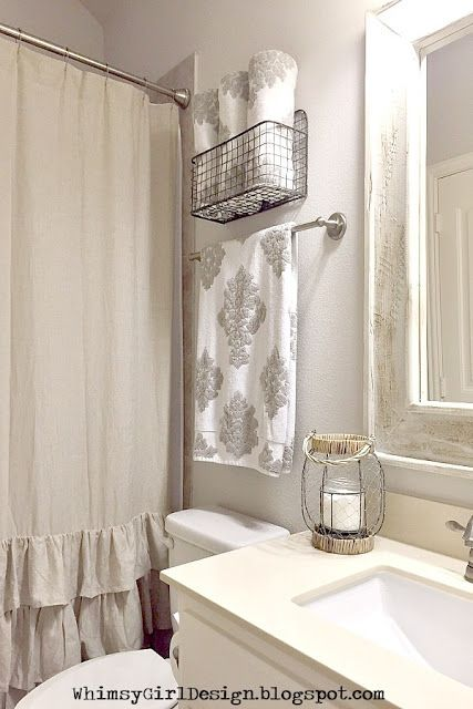 whimsy girl: Styling Tips: {Decorative Solutions for Towel Storage}
