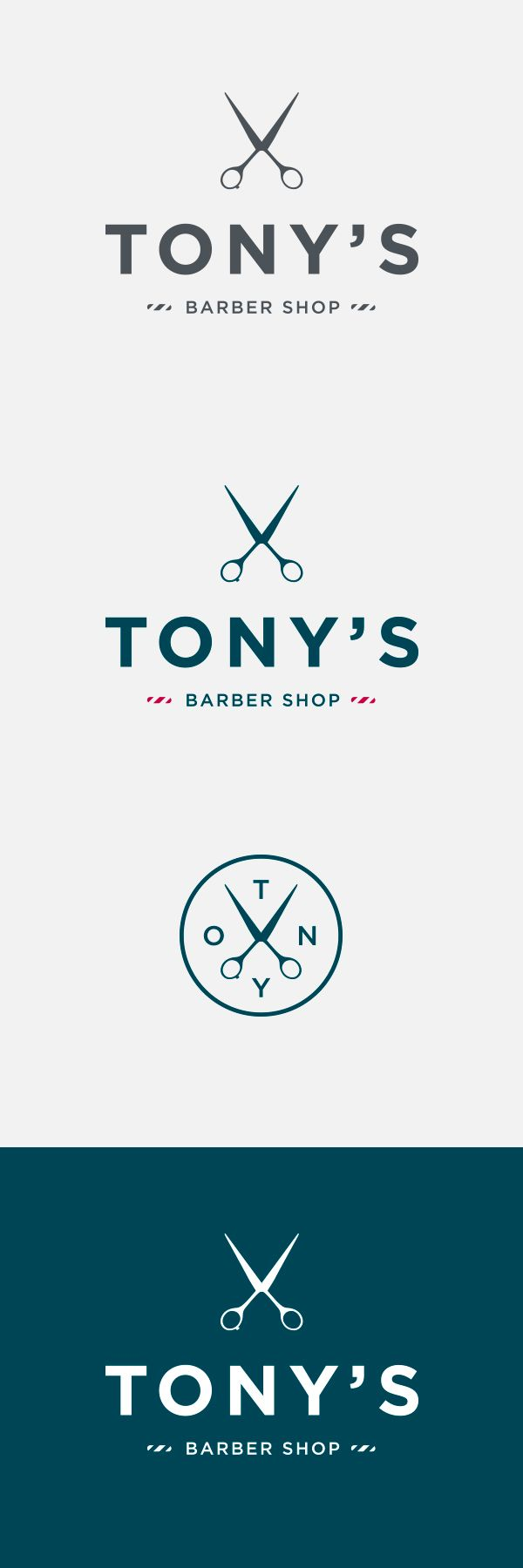 barber shop logo, branding