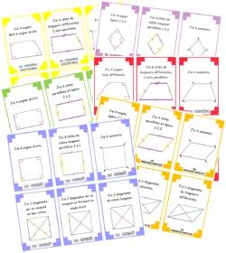 Jeu Quadri'familles : géométrie, cycle 3
