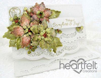 Heartfelt Creations | Sparkling Poinsettia Cluster