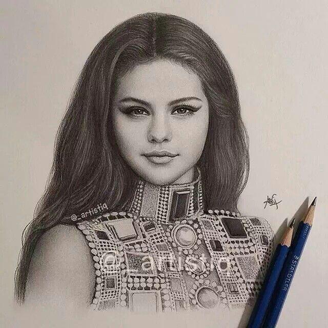 Selena gomez art pinterest selena amo voc e selena - Selena gomez dessin ...