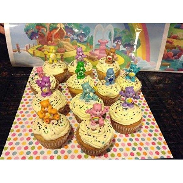 Care Bears Deluxe Figure Set of 12 Cake Toppers Cupcake Toppers Party Decorations  These not only look great on cakes but the kids will have a fun time playing with, collecting and trading these fun figures long after the party is over! These fun #Care #Bears #Cake #Toppers/Decorations will help make any party a big hit...