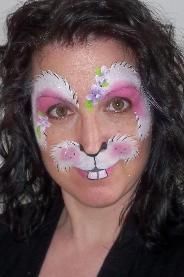 Maquillage De Lapin Recherche Google Halloween Pinterest Face And Face Paintings