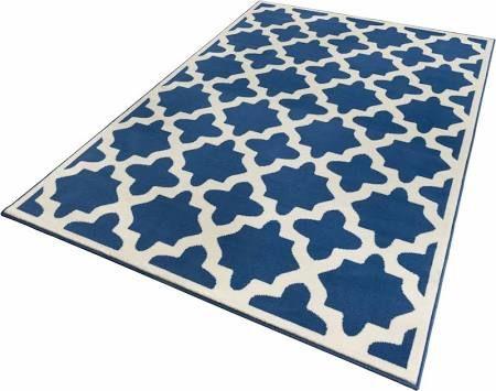 vloerkleed, ZALA Living, »Noble«, geweven laagpolige Vloerkleden maat 2 (bxl: 70x140 cm) Blauw